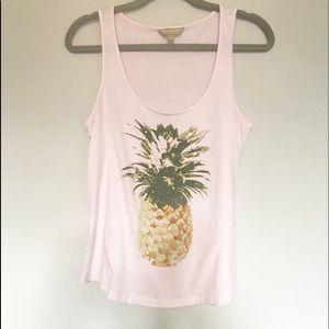 Banana republic pineapple sequin tank top